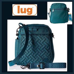 NWT Lug Flapper Convertible Teal Crossbody Bag